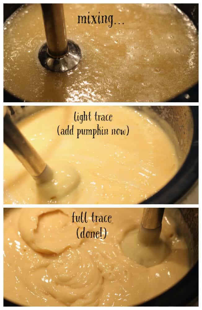 steps of making pumpkin soap