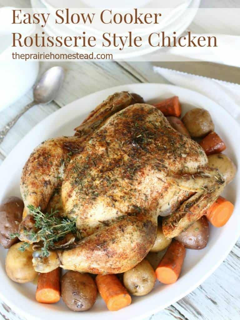 rotisserie chicken in the crockpot