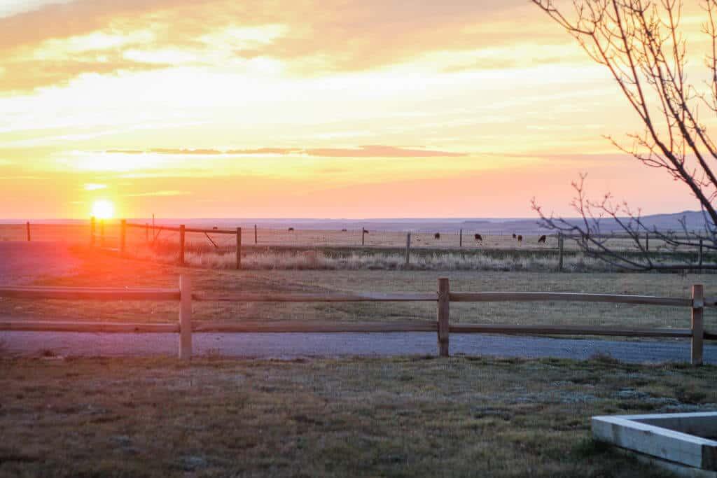 wyoming prairie sunrise