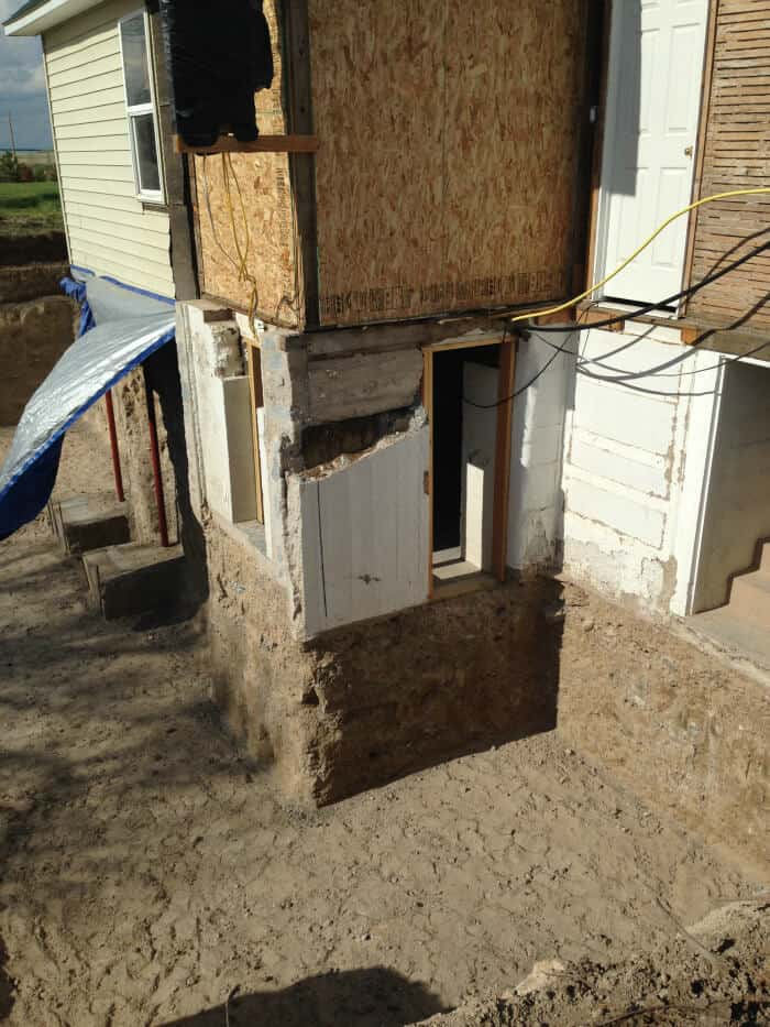 We worked with an engineer to make sure the house was supported and wouldn't topple into the whole. A-hem.