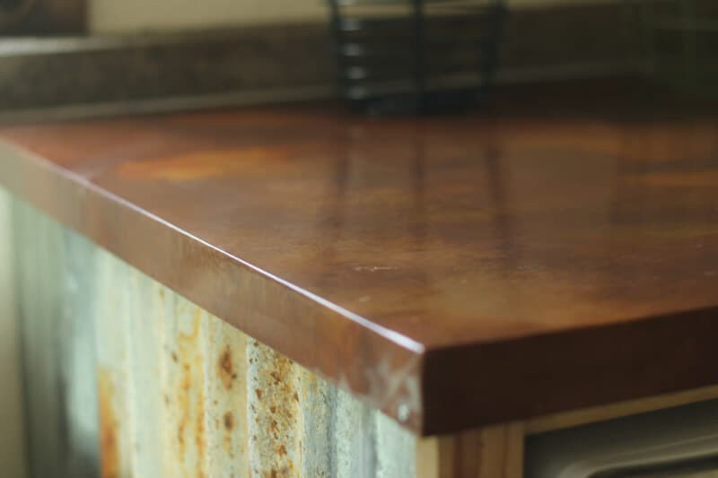 Diy Copper Sheeting Countertop