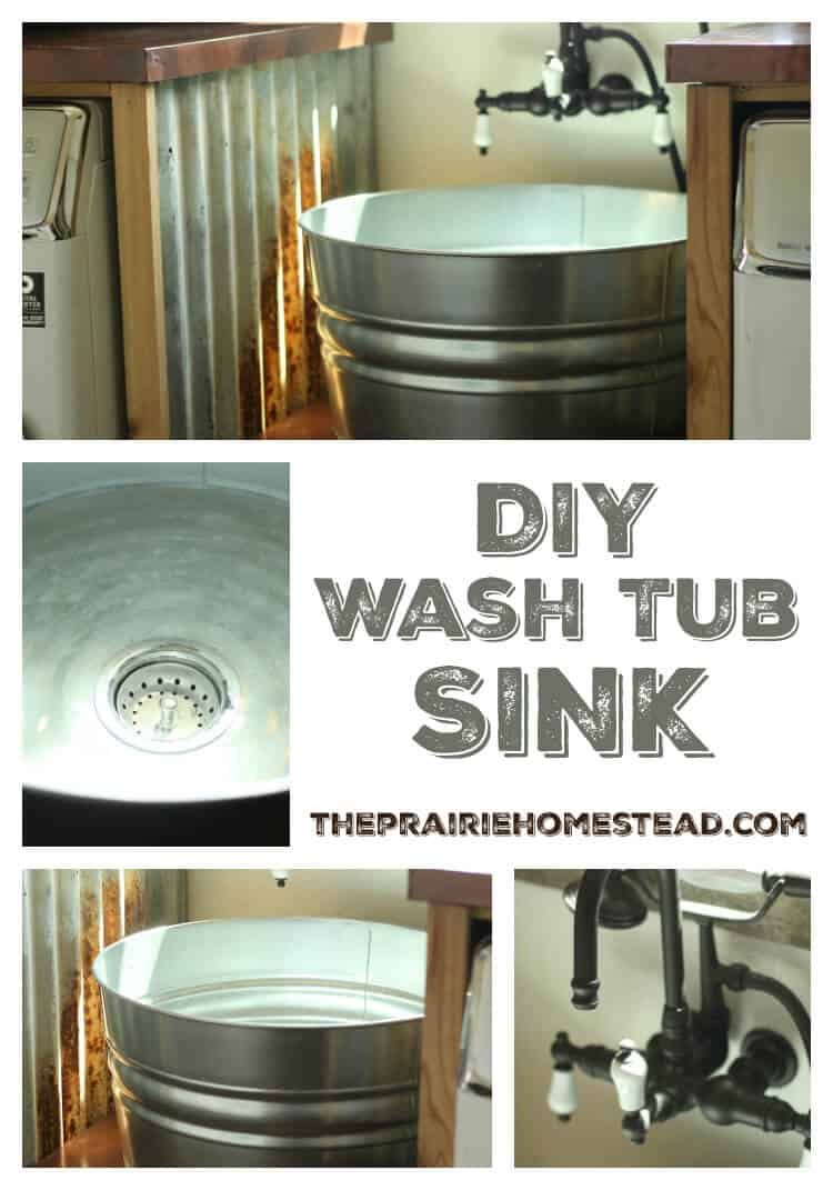 DIY Galvanized Tub Sink • The Prairie Homestead