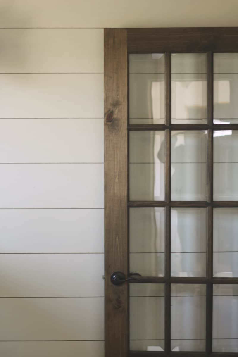 glass pane door