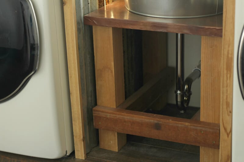 Kitchen Sink Wash Tub : Instead, Prairie Husband built a custom stand with some leftover rough ...