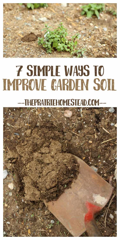 7 Simple Ways To Improve Garden Soil The Prairie Homestead