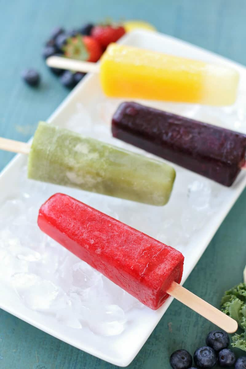 homemade popsicles with real fruit