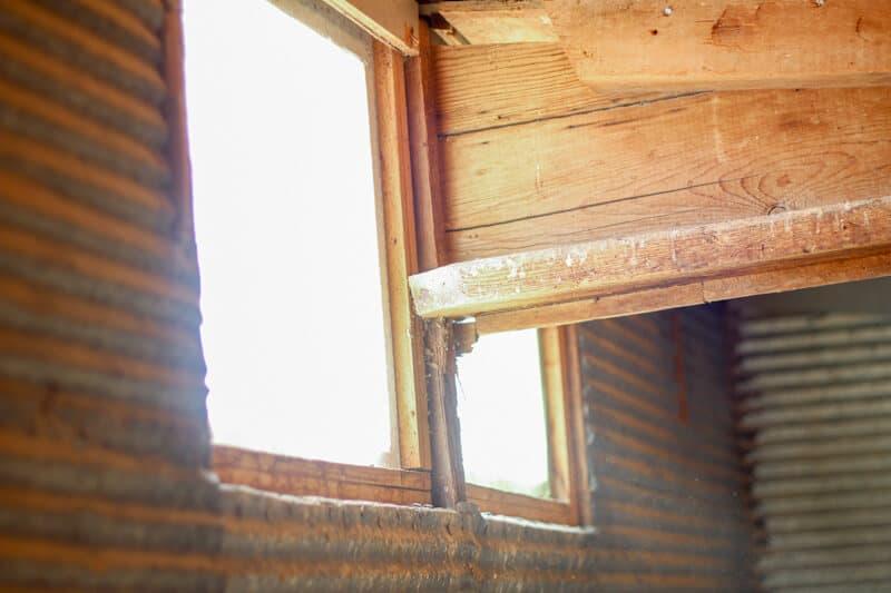 window in chicken coop