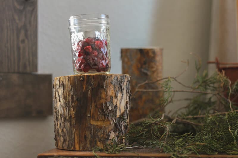 diy log pedastals