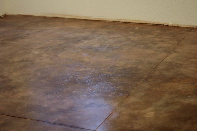 How To Acid Stain Concrete Floors The