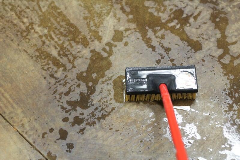 how to acid stain concrete floor