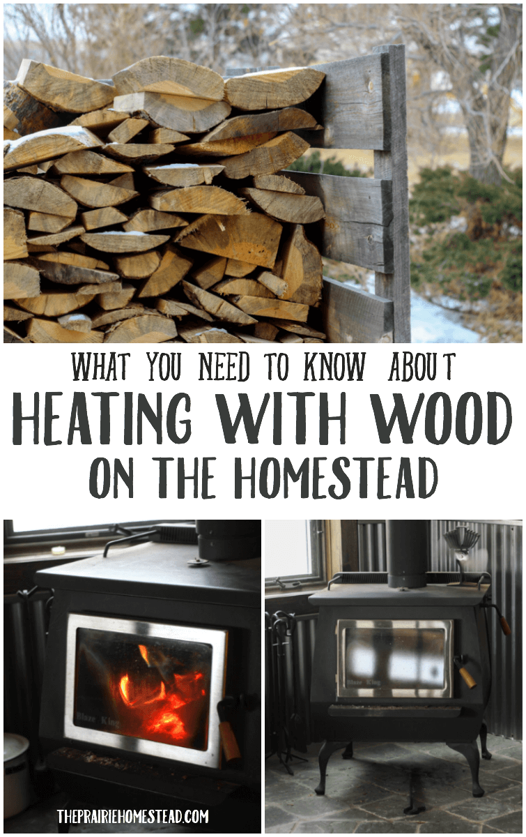 heating with wood on the homestead