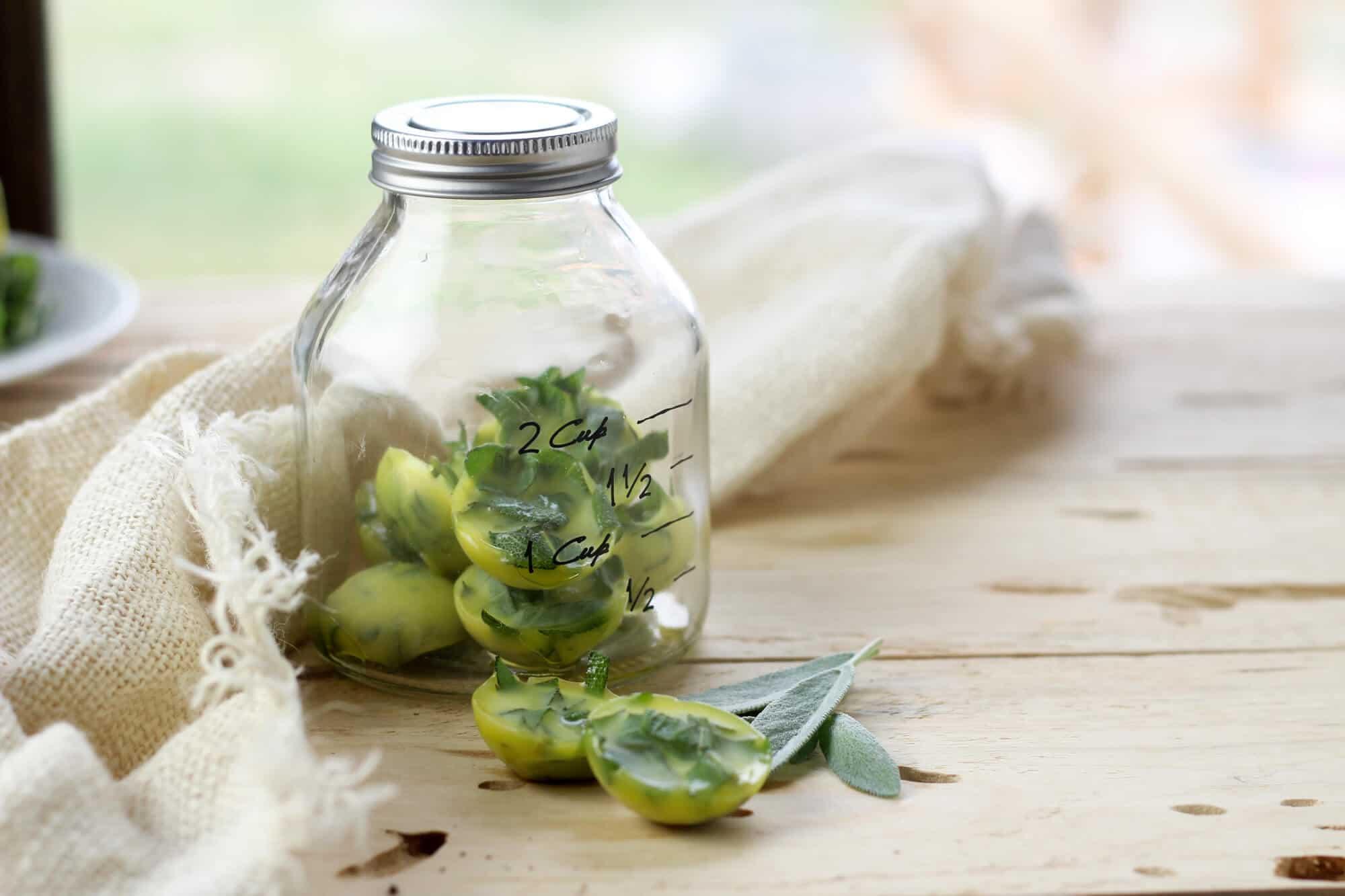 How To Preserve Fresh Herbs In Olive Oil The Prairie Homestead