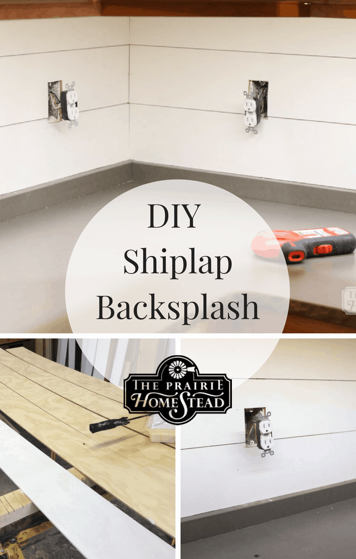 DIY Shiplap Kitchen Backsplash • The Prairie Homestead
