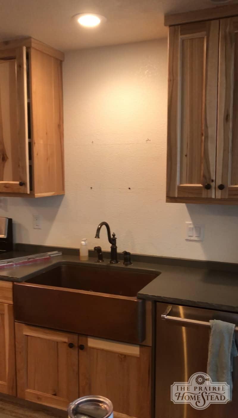 Diy Shiplap Kitchen Backsplash The Prairie Homestead