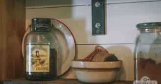 open shelves farmhouse kitchen