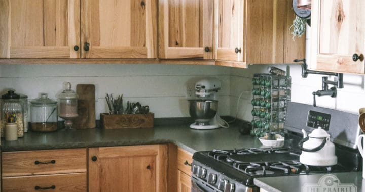 DIY Shiplap Kitchen Backsplash