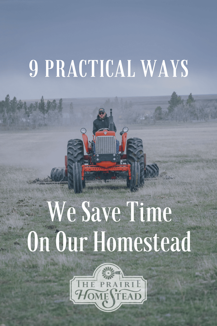 practical ways to save time homesteading