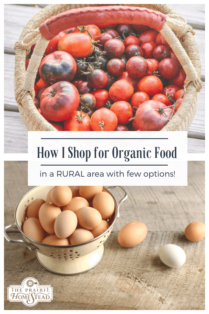 how I shop for organic food in a rural area