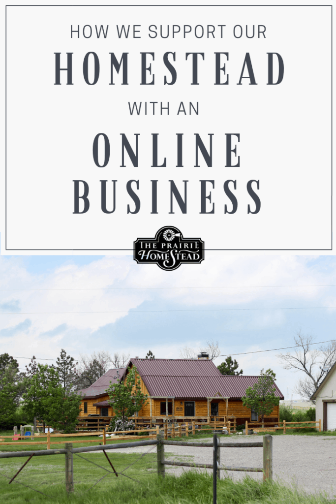 how we support our homestead with an online business