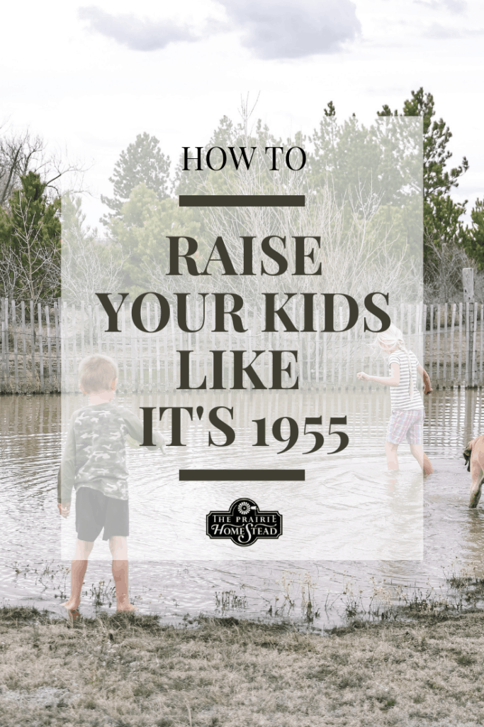 how to raise your kids like it's 1955
