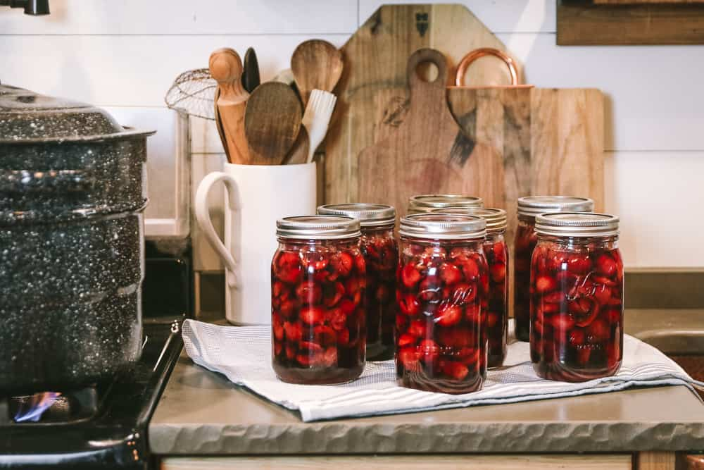 canning cherries with honey