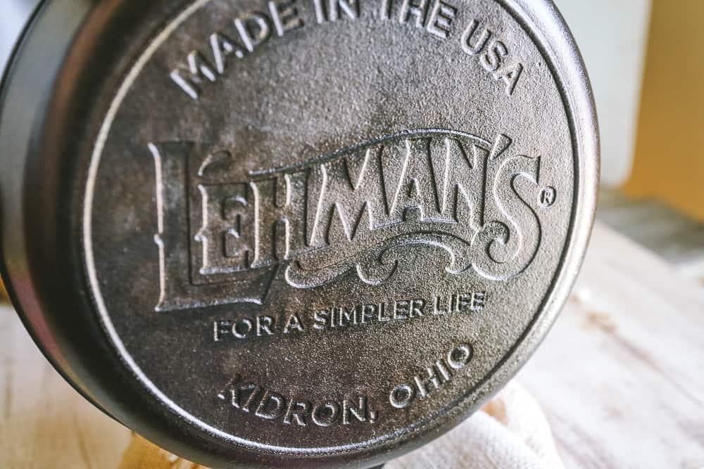 lehman's cast iron skillet