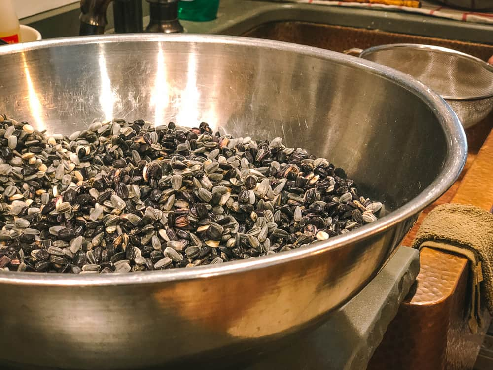 how to roast sunflower seeds