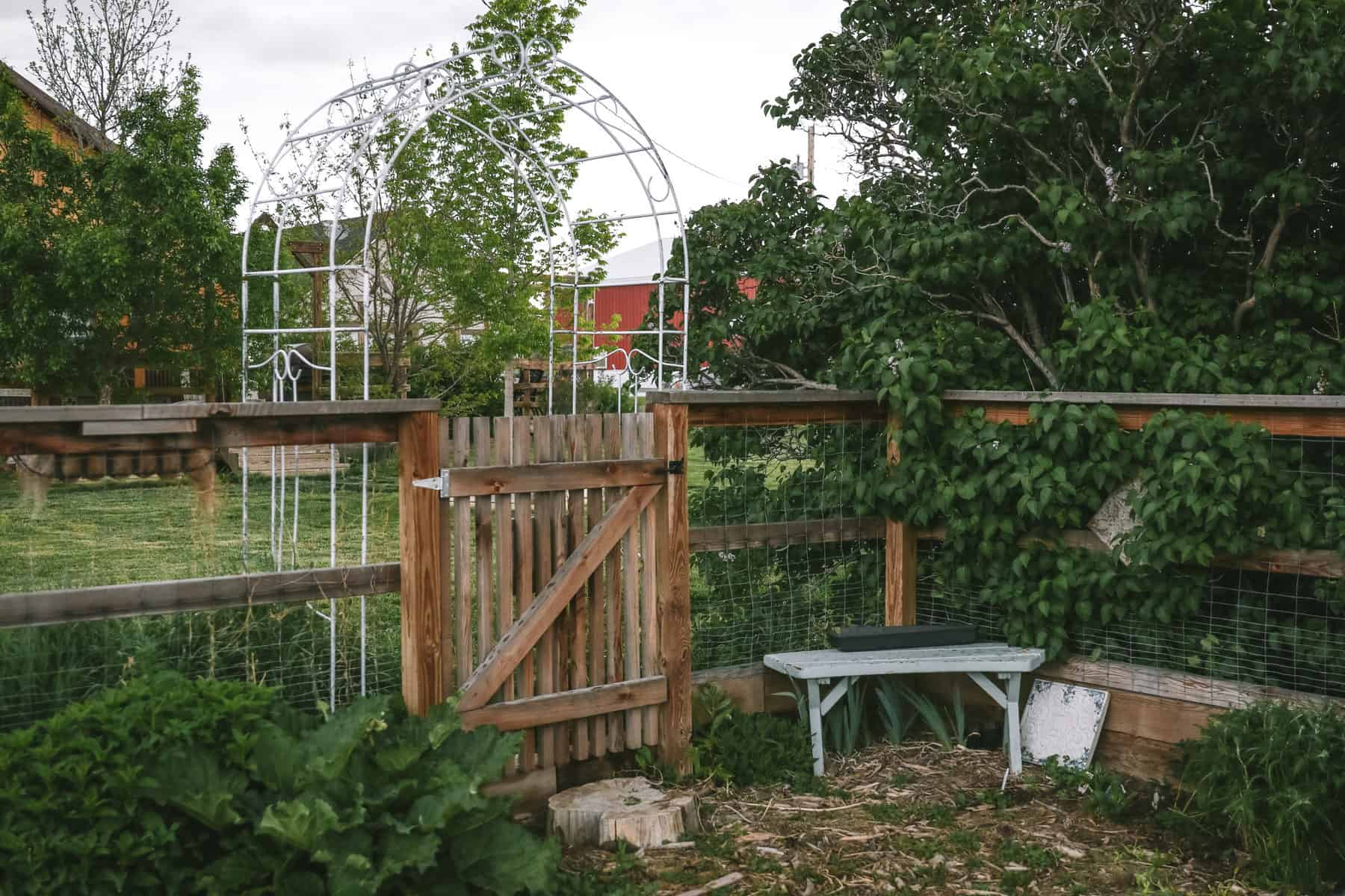 organic garden gate