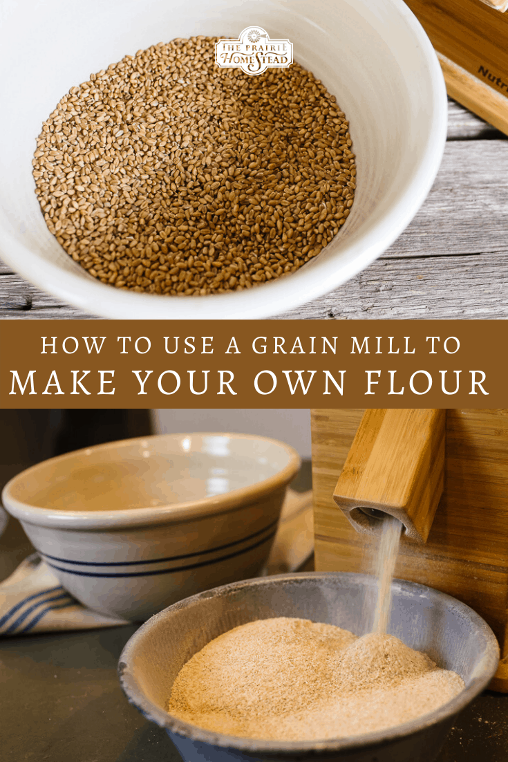 how to make your own flour with a grain mill
