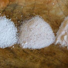 coarse salt, fine salt