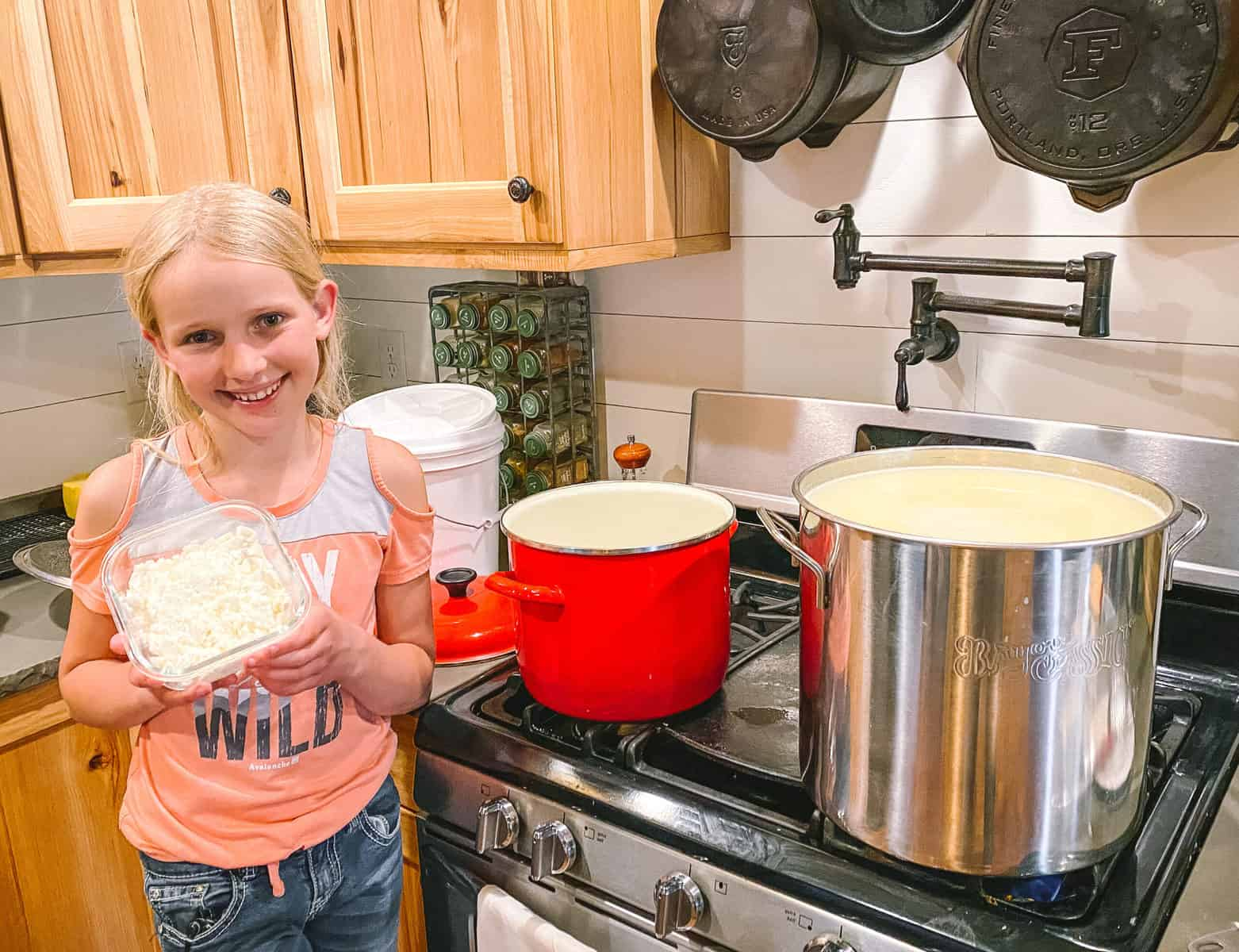 Homesteading With Kids Mesa Making Cheese