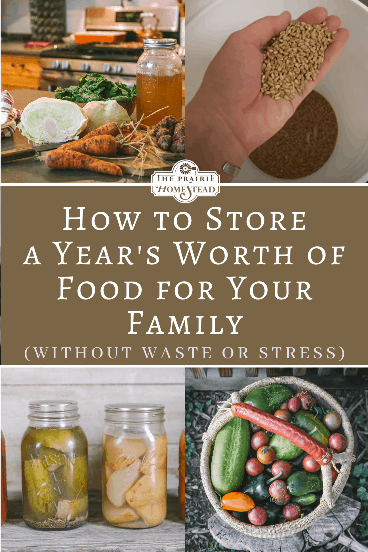 How to Store a Year's Worth of Food for Your Family (Without Waste and Overwhelm)